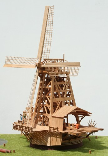 scale model dutch windmill