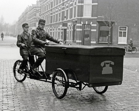 Tandem Cargo Tricycle 1940 More Vintage Dutch Carrier Bikes