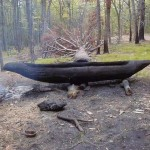 Making a Dugout Canoe Using Stone Tools and Fire