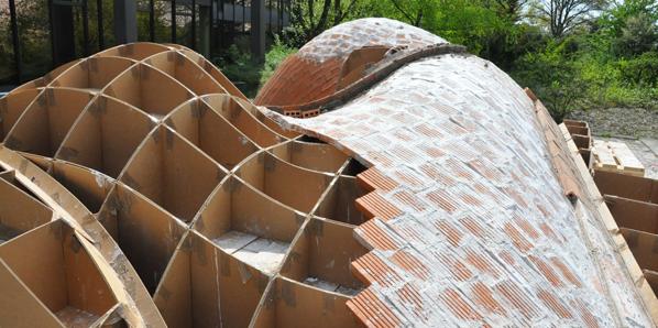 timbrel vaulting cardboard framework