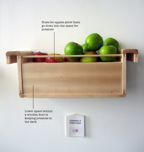 food storage apples and potatoes