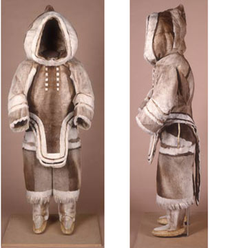 caribou skin clothing