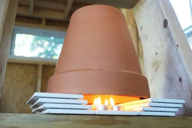 Flower Pot Candle Heater and Tea Room