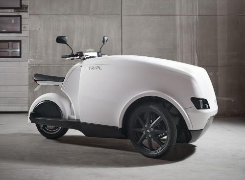 tripl elektric motor bike