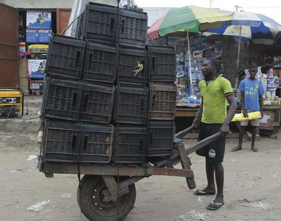 Chinese Wheelbarrow Lives on in Angola, Africa