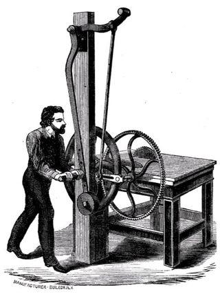 hand powered sawing machine