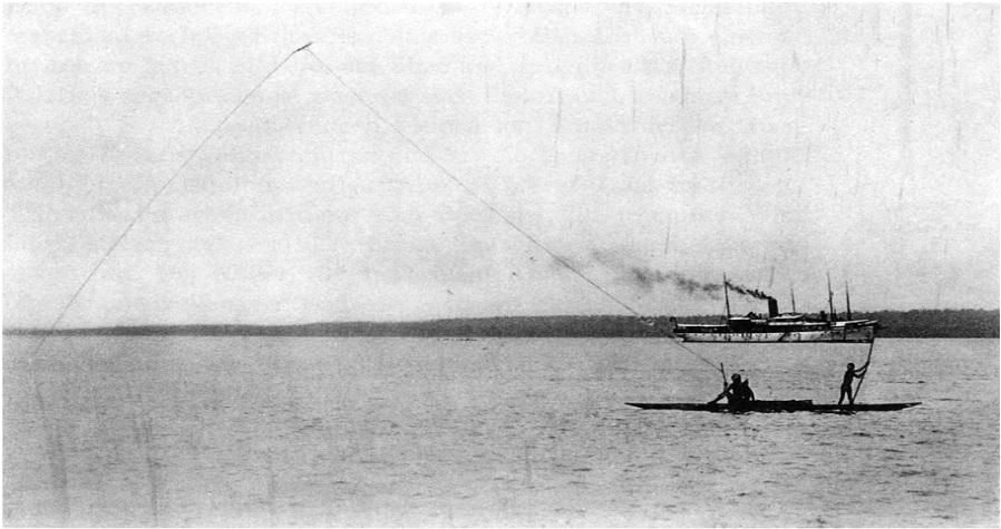 kite fishing 1908