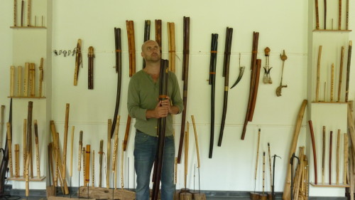 winne clement and his fujara flutes