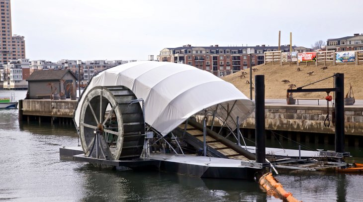 baltimore inner harbor water wheel