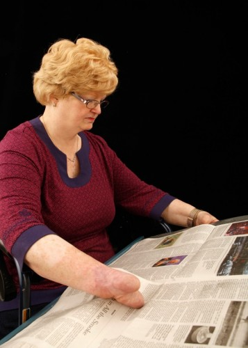 newspaper reading for disabled